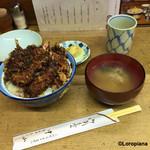 天ぷら 中山 - 味噌汁、香の物付