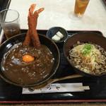 53909041 - 2016.7.22:エビカレー丼(2016.7.22)冷たい蕎麦(大)                       ¥1,050