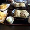 そば処 斜里 - 料理写真:二人ともAランチ(810円)の蕎麦の合い盛りを