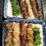 やじろう - 串焼き5種盛り・650円