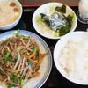 九龍飯店 - 料理写真:週替わりランチ(豚肉ともやしの炒め):750円/2016年7月