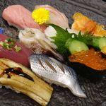 ひで寿司 - おまかせ寿司。3,240円。ひで寿司(安城市)食彩品館.jp撮影