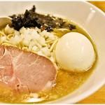 Ichikawa - 料理写真:煮干そば(塩)+味玉 750+100円 がっつーんと煮干し!うまし!