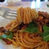 イルゴローソ - 料理写真:ツナ、ベーコン、きの子のトマトソーススパゲッティ