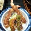 蓮 - 料理写真:大海老天丼