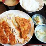 柳ばし - チキンかつ定食 870円 2016/07