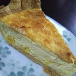 ミモザ - キッシュ(調布産トウモロコシのキッシュ)の盛り付け