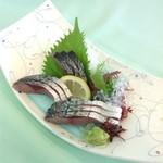 シーサイドホテル屋久島 - 首折れ鯖のお刺身。