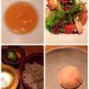 大どころ - 料理写真:スープ、サラダ 、じゃこ飯、スモモのシャーベット