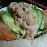 こまつ うどん店 - 野菜サラダと豚しゃぶ