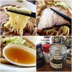 麺家 西陣 - 麺は細麺縮れ 女性向けに髪留めあります 髪の長い男性もどうぞ!