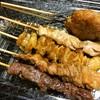 たかちゃん - 料理写真:つくね、とりもも、とり皮、豚ホルモン、牛ハラミ