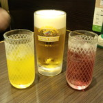 サイゼリヤ - ジョッキ生ビール(399円)&ドリンクバー(280円)+セットドリンクバー(190円)
