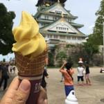 大阪城本陣 - バナナソフトクリーム 500円