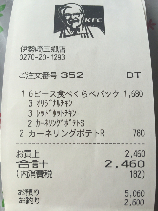 ケンタッキーフライドチキン 伊勢崎三郷店