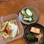 とんかつ 高座 - サラダ 小鉢 漬物