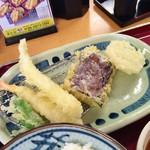 天ぷら食堂おた福 - 料理写真:エビ・烏賊・茄子・レンコン・獅子唐♪