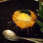 伊藤家のつぼ STAND SUSHI BAR - ムラサキウニのシャリ詰め焼き