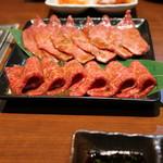 焼肉 大貫 - ウデサンカク と リブキップ