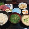 まる信 食堂 - 料理写真:天然生キハダまぐろ刺身定食/千葉(900円)