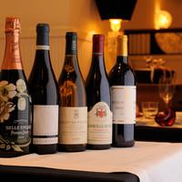 豊富なグラスワイン