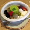 喫茶千利 - 料理写真:宇治抹茶プリンみつ豆(\756)