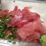 鮮魚仕出し 幾の家 - 中おち丼。これだけたっぷり入ってライス付き 500円は実にお値打ち感満載です!!