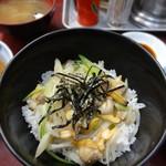 江戸川食堂 - 深川丼 丼というより「めし」な感じ