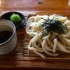 六六庵 - 料理写真:ざるうどん(*´д`*)350円 ザルプレート←うどん乗ってます