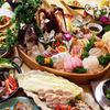 テジョンデ - 料理写真:豪華コースの刺身の盛り込みです。