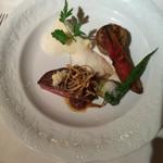 レストラン・マッカリーナ - 標茶産和牛ロース エシャロットのソース 山ワサビ添え
