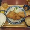 万福食堂 - 料理写真:マグロカツ&アジフライ ¥820-