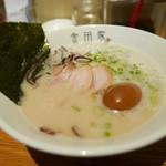 金田家 - 黒豚豚骨ラーメン 煮卵入り ¥850