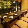 trattoria SATOMI fooding - 内観写真:「日本の和の空間」をテーマにした小上がり座敷席。