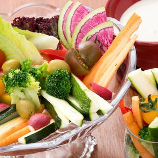 新鮮なお野菜をご提供♪無農薬野菜バーニャカウダ890円