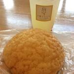 メロンリッチ - 料理写真:レモネードとメロンパン