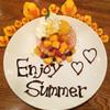 カフェ パンプルムゥス - 料理写真:8月限定★マンゴーのパンケーキ