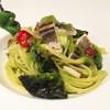 チンギアーレ - 料理写真:山科とうがらしと蒸し穴子のパスタ バヴェッティーニ/季節のコースより