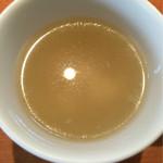 54304378 - スープ 薄味 下に玉子沈殿