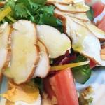 54308098 - 国産スモークチキンと岐阜県産麗夏トマト、パクチーのエスニックサラダ