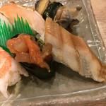回転寿司日本一 - アナゴ ら アップ 貝類食べれるから良い