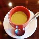 レストラン AKIOKA  - 本日のスープ(ホウレン草の冷製スープ)