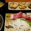 赤べこ - 料理写真:ぶり刺身定食+納豆 2016.7