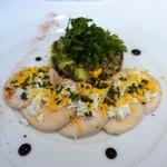 54347112 - 若鶏胸肉のマリネ 柚子風味 レンズ豆とアボカドのサラダ