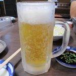 みらく - 飲めない後輩を横目に取り敢えずビールと後輩はコーラで乾杯!