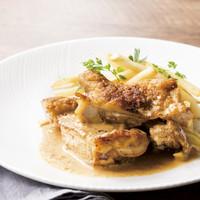 大山鶏のスパイシーチキンとトリュフのポテトフライ