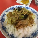 中国料理 山宝閣 - 料理写真:カレー肉野菜ごはん完成