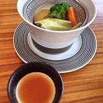 エクシブ有馬離宮 - 温野菜をポン酢で。