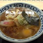 そば新 - 煮干しらーめん(390円)+生卵(50円)
