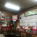 魁龍 - 色紙がいっぱいの店内